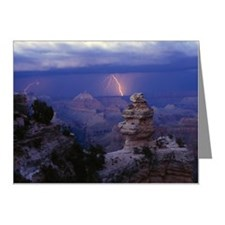 Lighting over Grand Canyon Note Cards (Pk of 10)