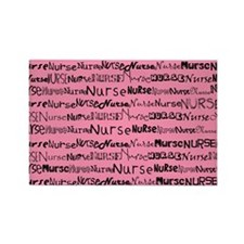 Nurse Nurse Nurse Pink Shoulder B Rectangle Magnet