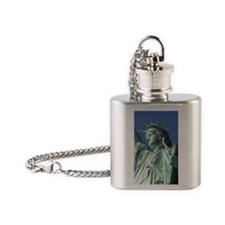Close-up of the Statue of Liberty,  Flask Necklace