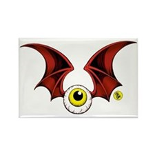 cropped flying eyeball Rectangle Magnet