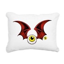 cropped flying eyeball Rectangular Canvas Pillow
