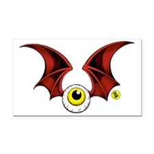 cropped flying eyeball Rectangle Car Magnet