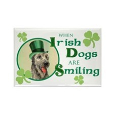 St. Patrick Irish Wolfhound Rectangle Magnet
