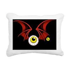 black2 flying eyeball Rectangular Canvas Pillow