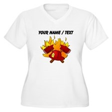 Custom Firefighter Symbol Plus Size T-Shirt