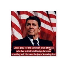 "Ronald Reagan Prayer Quote Square Sticker 3"" x 3"""