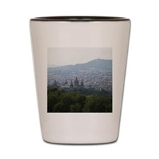 Cityscape of Barcelona, Spain Shot Glass