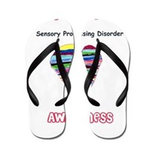 Sensory Processing Disorder Awareness Flip Flops