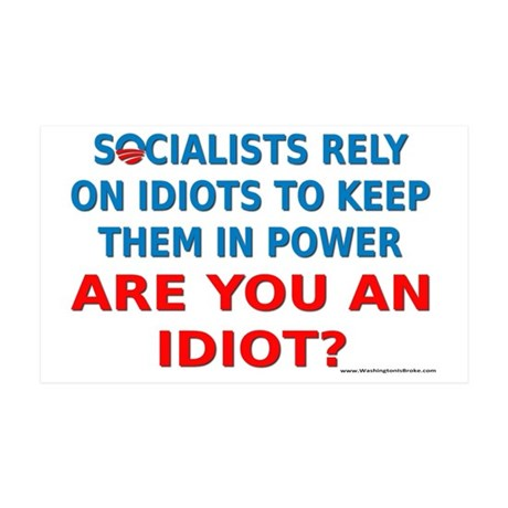 Socialist Idiots 35x21 Wall Decal