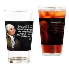 John Adams Bible Quote Drinking Glass