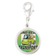 OPEN ARMS POUND RESCUE TRANSPO Silver Round Charm