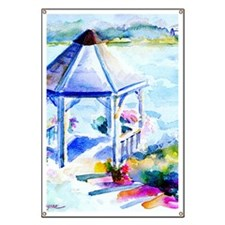 GazeboAtTheCoveShower Curtain Banner