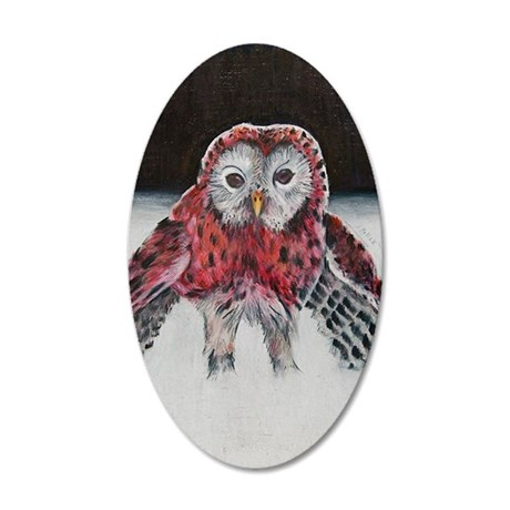 LIttle Red Riding Hoot 35x21 Oval Wall Decal