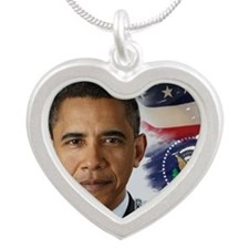 Obama Calendar 001 cover Silver Heart Necklace