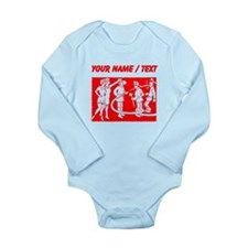 Custom Vintage Fireman Stamp Red Body Suit