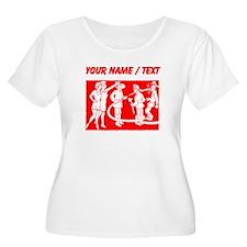 Custom Vintage Fireman Stamp Red Plus Size T-Shirt