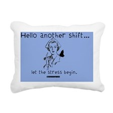 Hellow Another Shift Cei Rectangular Canvas Pillow
