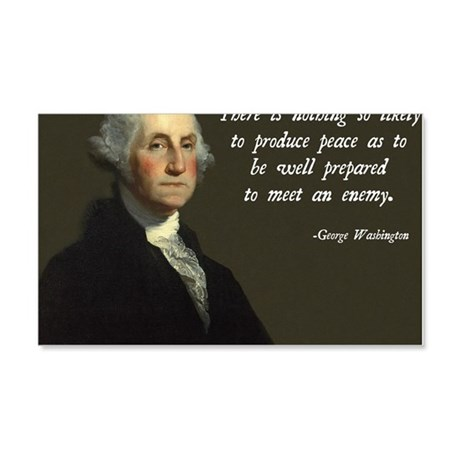 George Washington Military Quote 20x12 Wall Decal