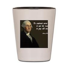 George Washington Debt Quote Shot Glass