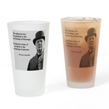 Winston Churchill Capitalism Quote Drinking Glass