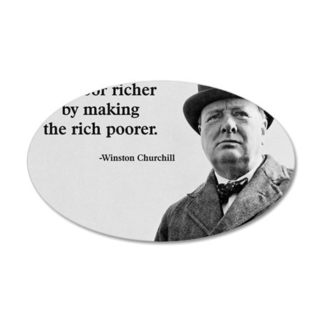 Churchill Quote 35x21 Oval Wall Decal