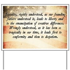 Goldwater Equality Quote Yard Sign