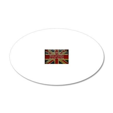 Margaret Thatcher 20x12 Oval Wall Decal