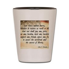 John F. Kennedy Quote Shot Glass