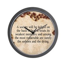 Pope John Paul II Pro-Life Wall Clock