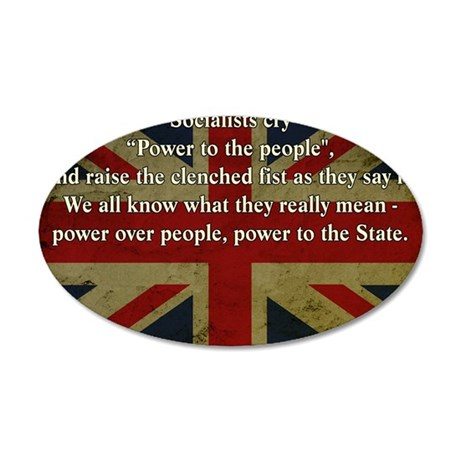 Margaret Thatcher Quote 35x21 Oval Wall Decal