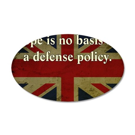 Margaret Thatcher Defense Qu 35x21 Oval Wall Decal