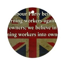 Thatcher Anti-Union Quote Round Ornament