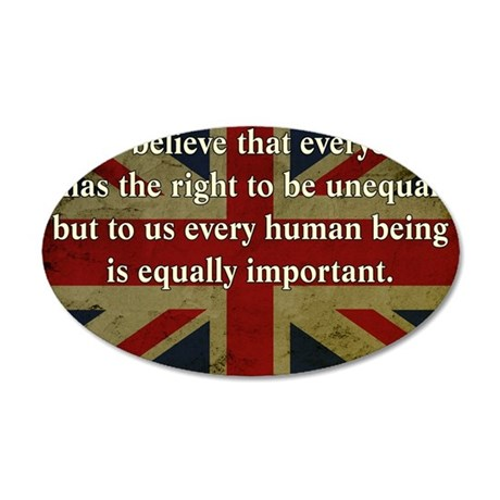 Margaret Thatcher Equality 35x21 Oval Wall Decal
