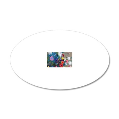 Pic Redon Bouquet 20x12 Oval Wall Decal