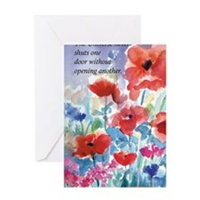 Red Poppies Journal Greeting Card