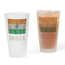 Vintage India Drinking Glass