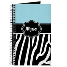 Blue Zebra Print Journal