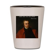 Patrick Henry Bible Quote Shot Glass