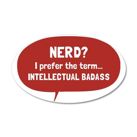 Nerd 35x21 Oval Wall Decal