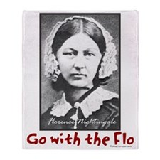 Go with the Flo - Florence Nightinga Throw Blanket