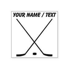 Custom Hockey Sticks And Puck Sticker