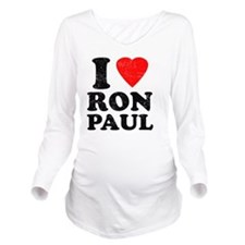 I Heart Ron Paul Long Sleeve Maternity T-Shirt