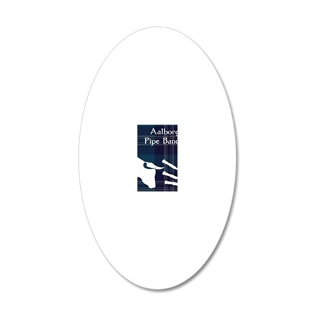 Aalborg Pipe Band Logo 20x12 Oval Wall Decal