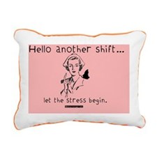 Hellow Another Shift Pin Rectangular Canvas Pillow