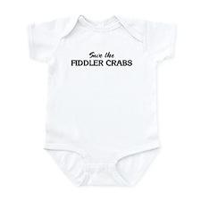 Save the FIDDLER CRABS Infant Bodysuit