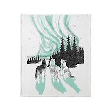 Siberian aurora Throw Blanket