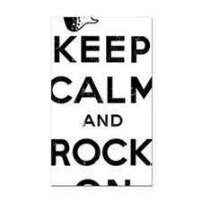 KeepCalmRockOnBlack Rectangle Car Magnet