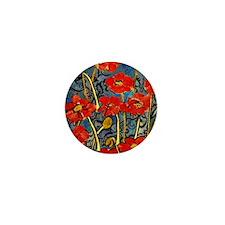 Poppy Swirls Mini Button