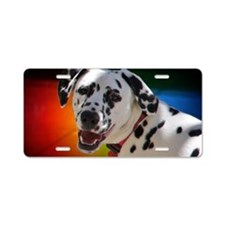 Dalmatian In Color Aluminum License Plate