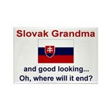 Gd Lkg Slovak Grandma Rectangle Magnet